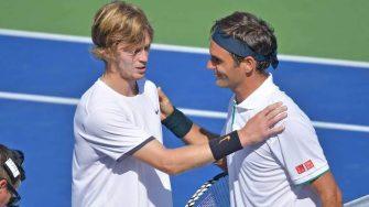 Rublev es el tercer tenista en vencer rápidamente a Federer en su carrera