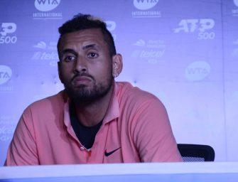 Kyrgios se retira por lesión de Acapulco entre abucheos