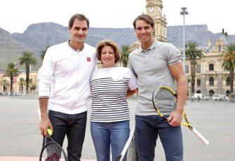 Federer: Tuve que controlar las emociones tras ver a mi madre en Match In Africa