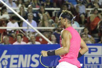 Rafael Nadal está en la final del Abierto Mexicano de Tenis 2020