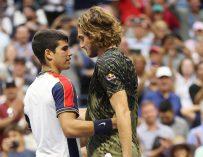 Alcaraz logra 10 récords tras vencer a Tsitsipas en el US Open